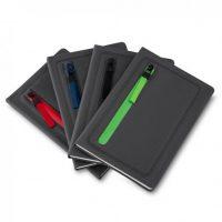 Caderno de anotações com caneta