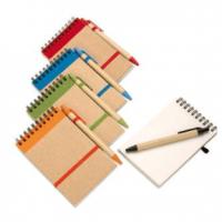 bloco reciclável com caneta